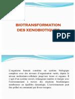 Biotransformation des xénobiotiqueques gh