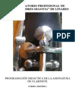 Programación Clarinete Linares