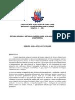 SAMUEL HUALLACY - ESTUDO DIRIGIDO RESPOSTAS