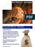 curso online gratuito unieducar irpf2011 alteracoes