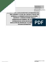 Criterios para la aplicación del Real Decreto 772 de 7-5-1999