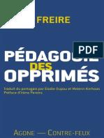 Paulo Freire - Pédagogie des opprimés