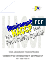 DUTCH-Option A Requirements for an HACCP