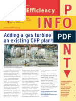 Adding a Gas Turbine to an existing CHP plant