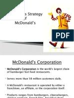 OPERATIONS strategy of McDonalds