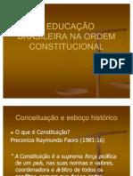 A EDUCAÇÃO BRASILEIRA NA ORDEM CONSTITUCIONAL