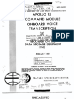 Apollo 15 Command Module Onboard Voice Transcription