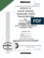 Apollo 15 Lunar Module Onboard Voice Transcription