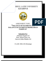 A Report on Balance of Payments of Pakistan and their problems