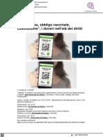 Green pass, vaccini e Costituzione - Vivere Urbino.it, 11 ottobre 2021