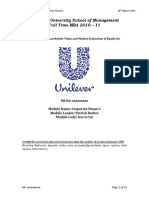 Evaluation of Shareholder Value and Market Evaluation of Equity for Unilever