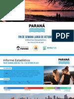 Parana Informe Turístico Fin de Semana Largo