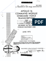 Apollo 16 Command Module Onboard Voice Transcription