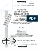 Apollo 16 Lunar Module Onboard Voice Transcription