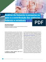 Análise do Fomento à Pesquisa no Brasil