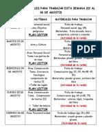 MATERIALES DE LA SEMANA 02 AL 06 DE AGOSTO