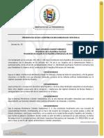 Decreto No. 38. Comisión de reestructuración de Monómeros.