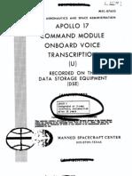 Apollo 17 Command Module Onboard Voice Transcription