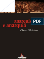 Anarquismo e Anarquia - Malatesta