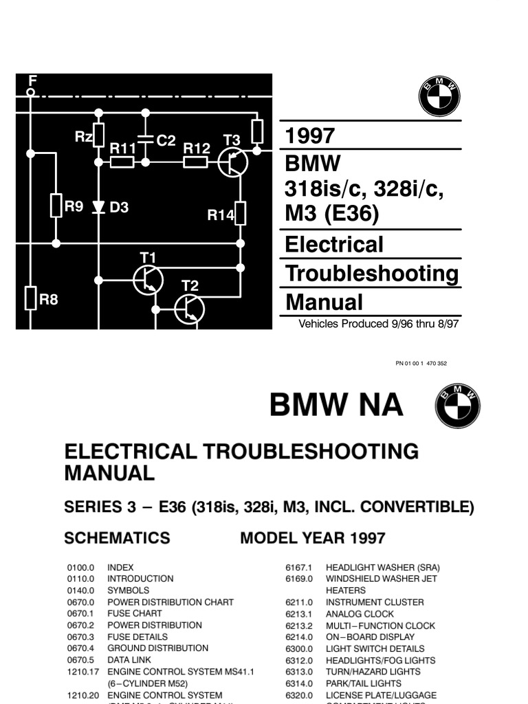 1997 bmw 318is c 328i c electrical troubleshooting manual 1 sciox Images