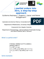 Turning partial orders into total orders, a step-by-step approach-Duluth 2008