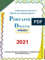 CARPETA PEDAGOGICA 2021