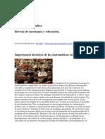 Importancia histórica de las matemáticas en el aula