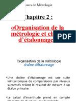 Chapitre 2 Organisation de métrologie et chaîne d'étalonnage