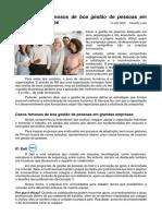 Atividade 4 - Cinco casos famosos de boa gestão de pessoas em grandes empresas