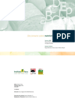 Diccionario sobre nutrición y alimentación
