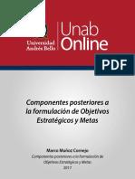 componentes posteriores a la formulación de objetivos estrategicos y metas