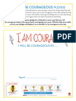 I Am Courage Activity Sheets