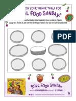 Soul Food Sunday Activity Sheets