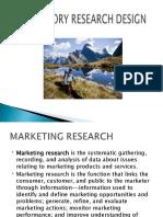 Exploratory Research Design-Marketing Research