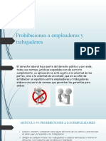 Prohibiciones a empleadores y trabajadores