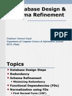 Database Design & Schema Refinement