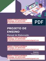 PROJETO de ENSINO Manual de Elaboração - Pedagogia