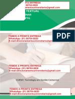 Indústria Baunilha & Canela - O Caso de Uma Indústria de Bolos – Tecnologia Em Gestão Comercial Semestre 3º e 4º