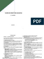 Cours Bassime Droit des sociétés PDF