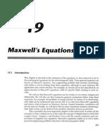 Chapter 19 - Maxwells Equations