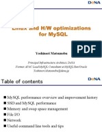 Linux and H/W optimizations for MySQL