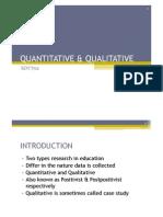 Lecture 2 Quantitative & Qualitative