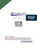 2010 Action Baseball manual
