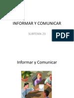 INFORMAR Y COMUNICAR