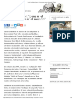 """David Le Breton_""""Pensar El Cuerpo Es Pensar El Mundo"""" _ Topía"""