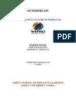 ORGANIZATION CULTURE OF WIPRO LTD
