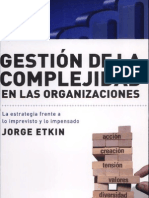Etkin - Gestión de la complejidad en las organizaciones