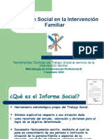 El informe Social en la Intervencion Familiar