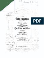 Ejercicios Para Piano de Liszt