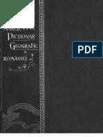 Marele Dicţionar Geografic al României vol III